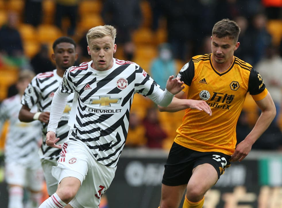 <p>Van de Beek has struggled since joining Manchester United last summer</p>