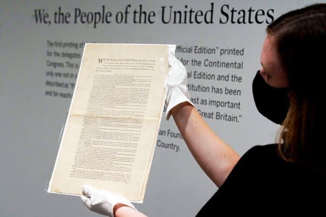 <p>Auction US Constitution</p>