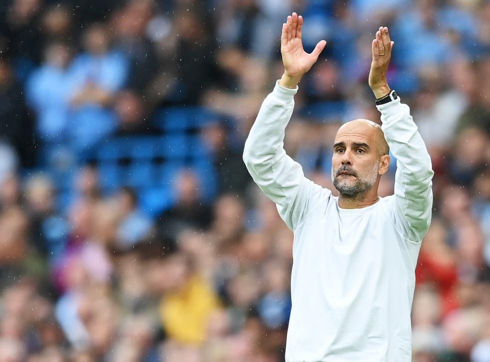 <p>Manchester City manager Pep Guardiola</p>