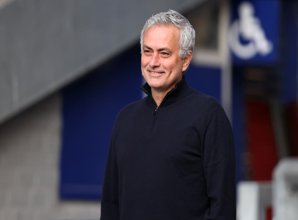Jose Mourinho was all smiles (Clive Brunskill/PA)