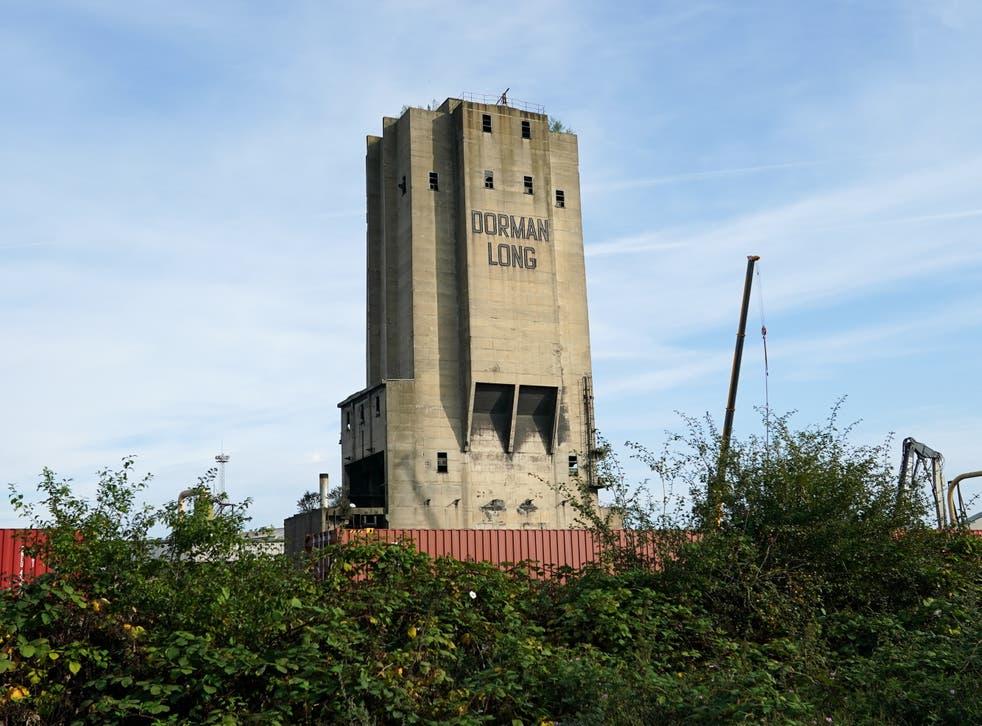 <p>Dorman Long tower at the former Redcar SSI steelworks</p>