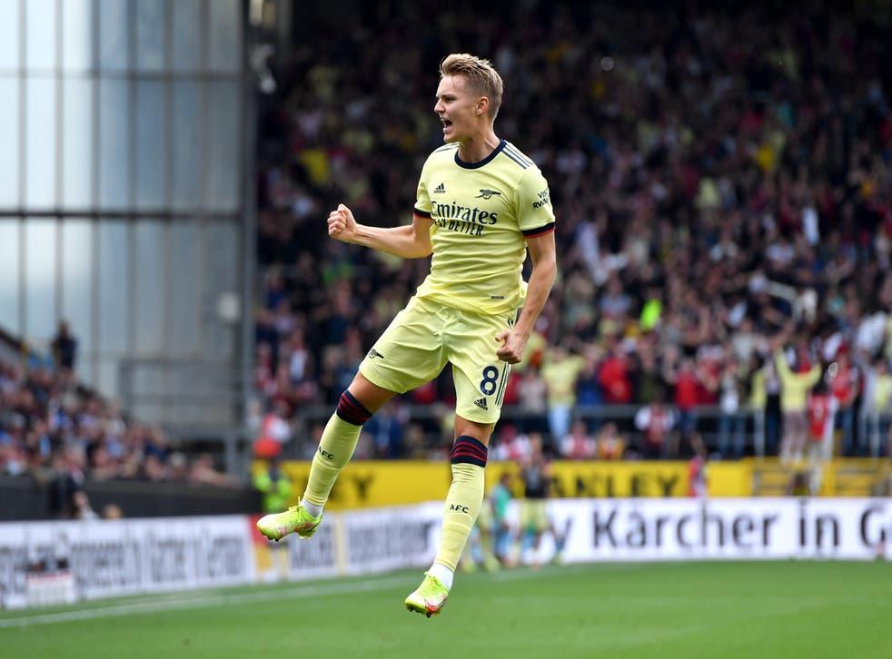 Martin Odegaard scored Arsenal's winner (Anthony Devlin/PA)