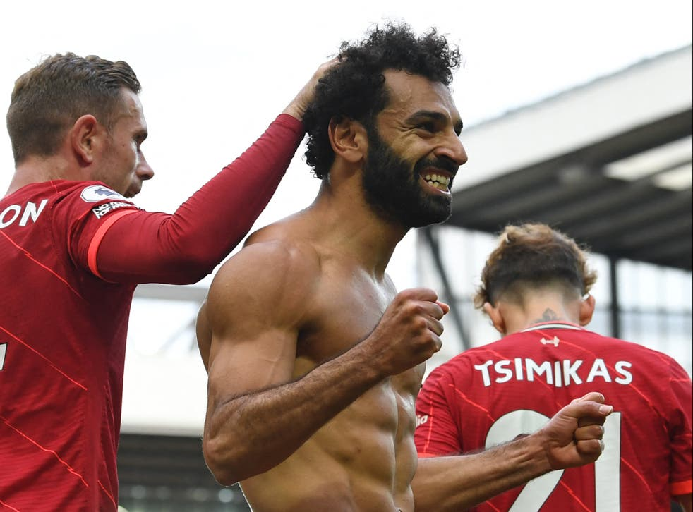 <p>Liverpool forward Mohamed Salah scored his side's second against Palace</p>
