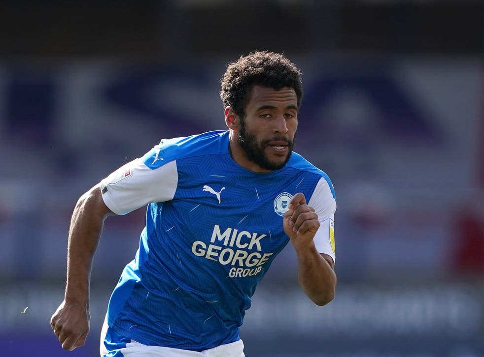 Peterborough's Nathan Thompson reported an allegation of racist abuse (Zac Goodwin/PA)