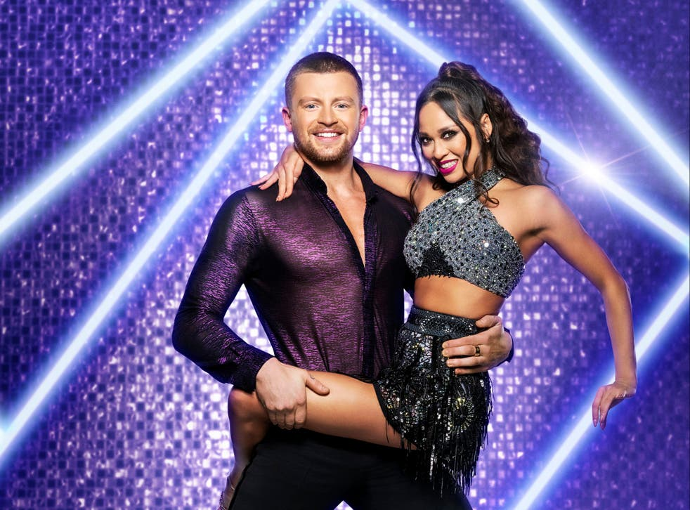 <p>Adam Peaty at the launch show of Strictly Come Dancing 2021</p>
