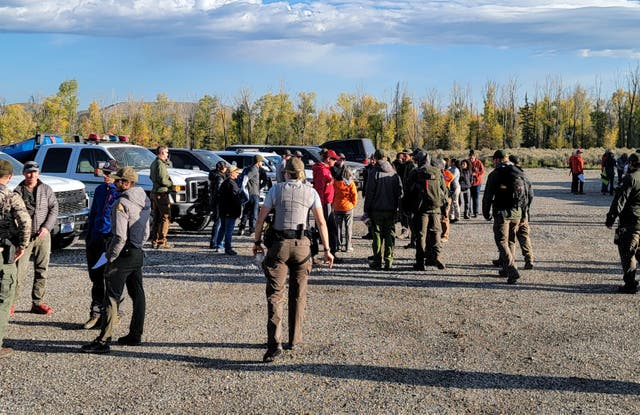 <p>Officers spent a large part of the day at the campsite north of Jackson</p>
