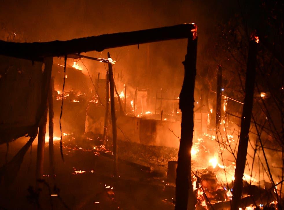 Migration Greece Camp Fire