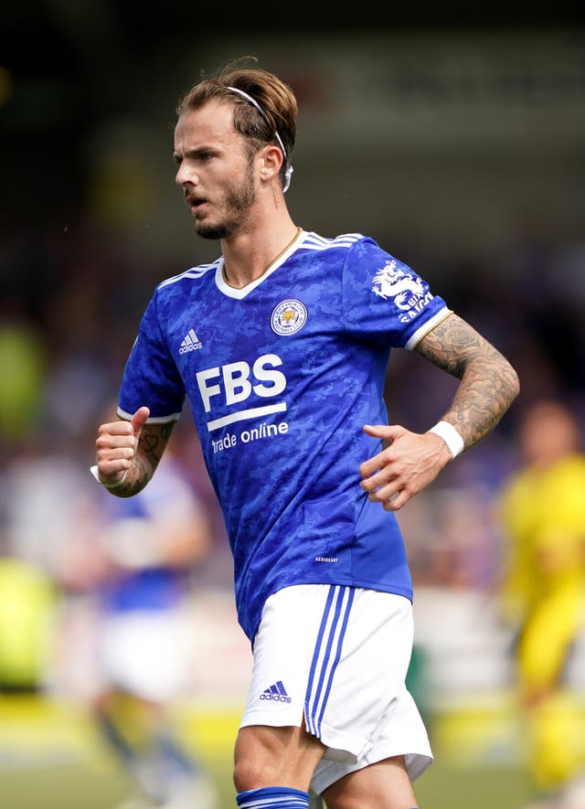 Brendan Rodgers is prepared to be patient with James Maddison (Tim Goode/PA)