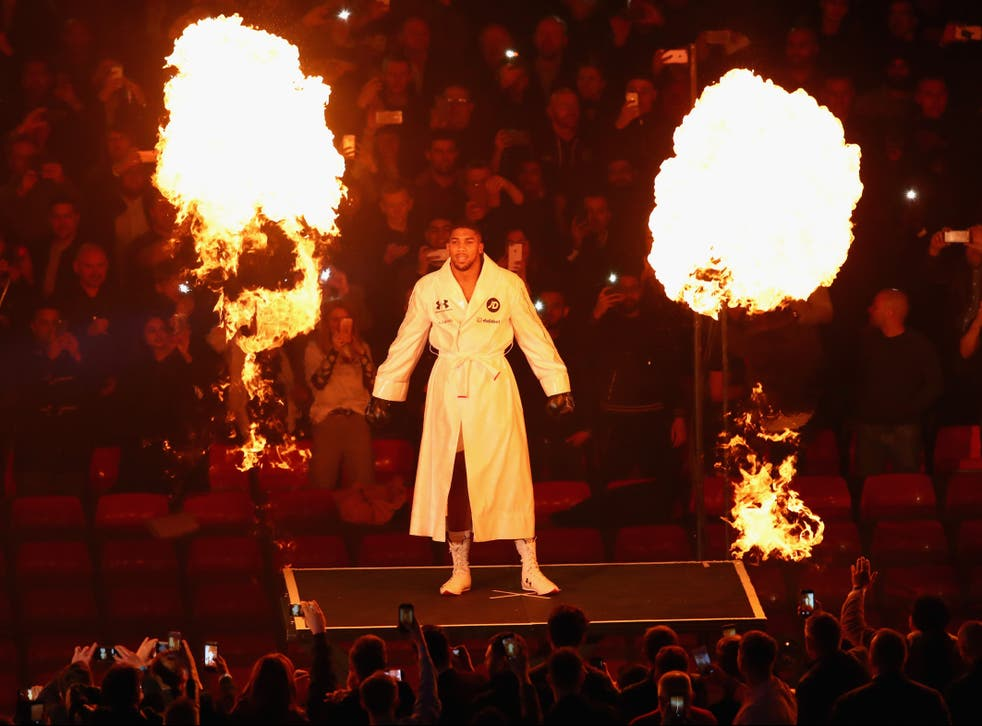 <p>Anthony Joshua returns to action this weekend </p>