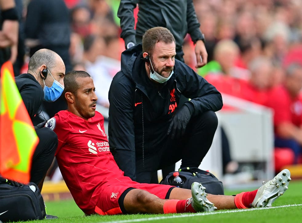 <p>Thiago will miss the Carabao Cup fixture against Norwich and the trip to Brentford in the Premier League  </p>