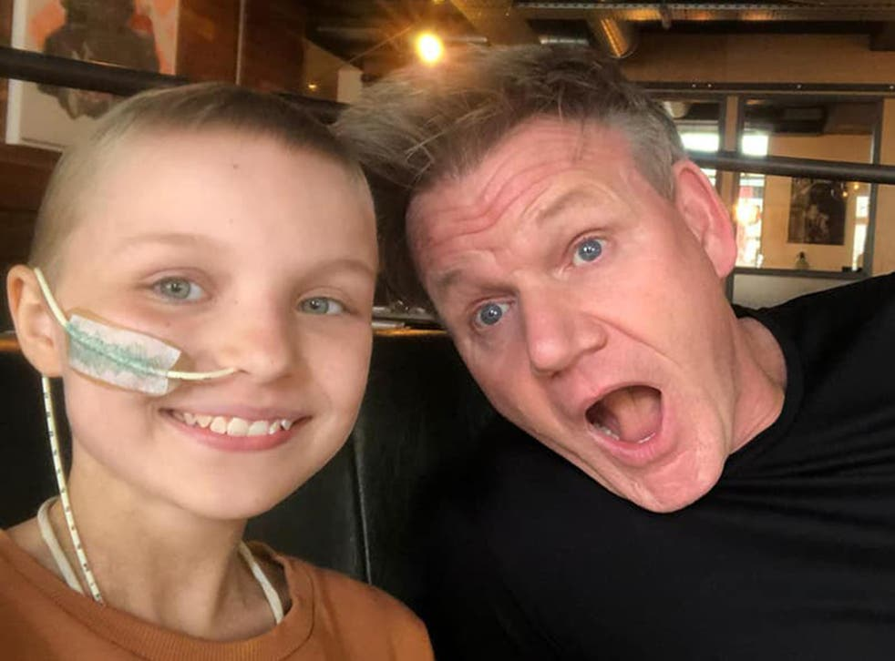 <p>Sophie was able to tick cooking with Gordon Ramsay off her list</p>