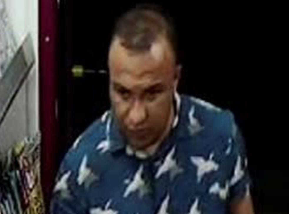 <p>Police say they would like to speak to this man </p>