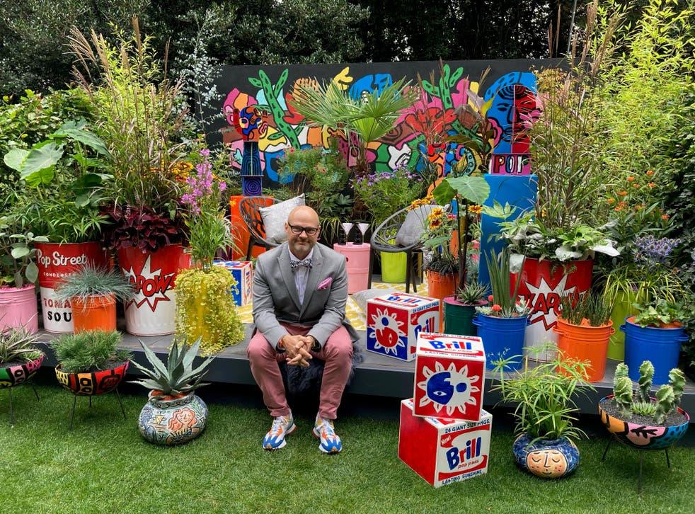 Pop Street Garden with designer John McPherson, RHS Chelsea Flower Show 2021 (Hannah Stephenson/PA)