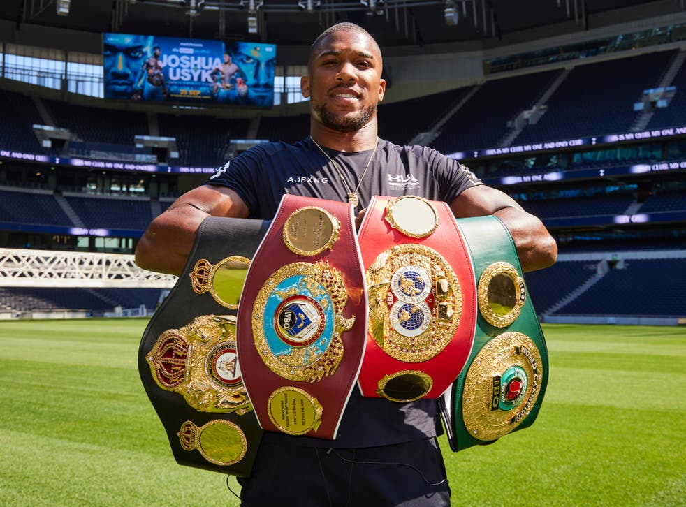 <p>Anthony Joshua defends his titles this weekend </p>