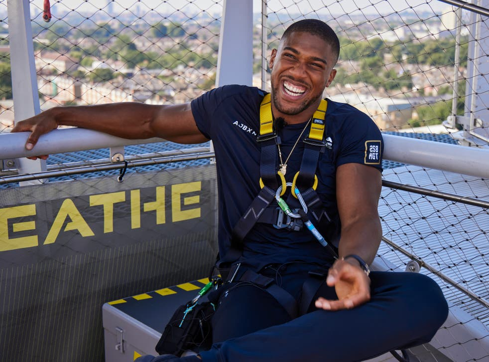 <p>Anthony Joshua has slimmed down for Saturday's fight </p>