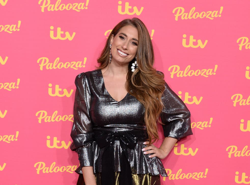 <p>Stacey Solomon at the ITV Palooza in 2019</p>