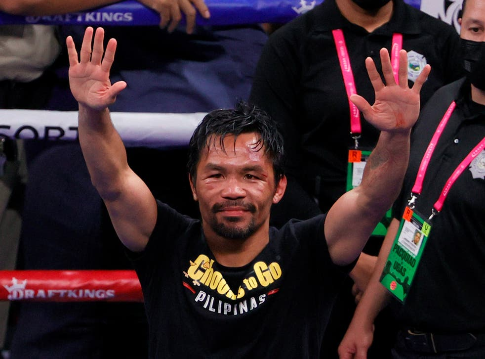 <p>Manny Pacquiao hasn't officially hung up his gloves</p>