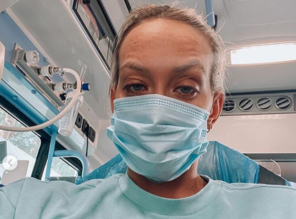 <p>Australian Olympic athlete Madi Wilson, who has fallen ill with Covid-19</p>