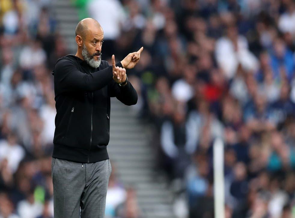 <p>Spurs manager Nuno Espirito Santo faces a second return to Wolves on Wednesday  </p>