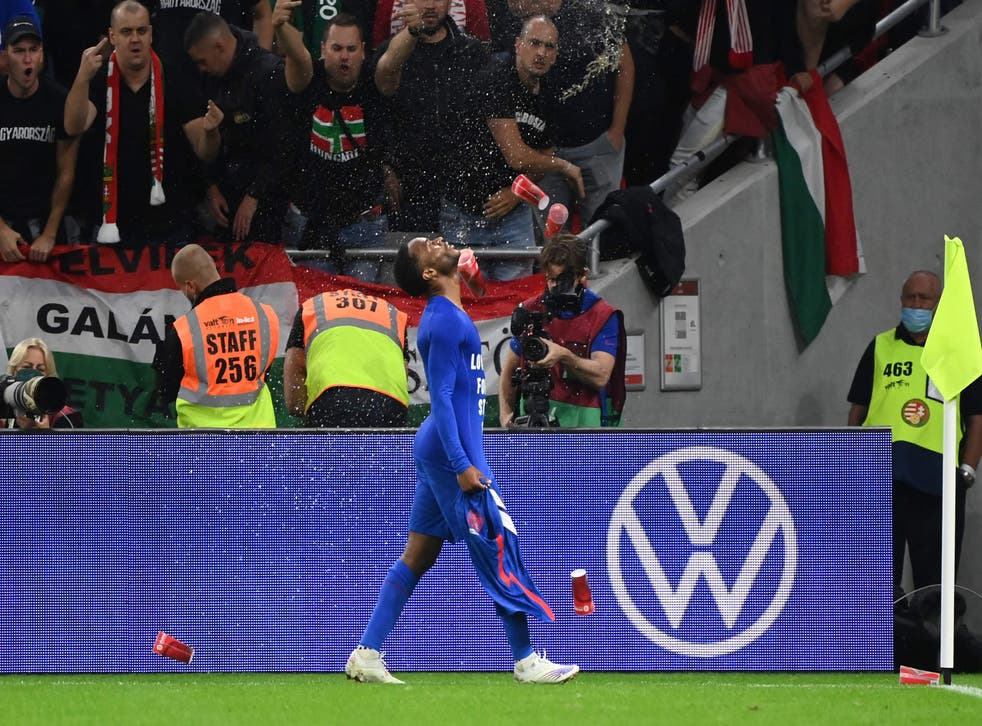 <p>Raheem Sterling was one of those abused in Budapest</p>