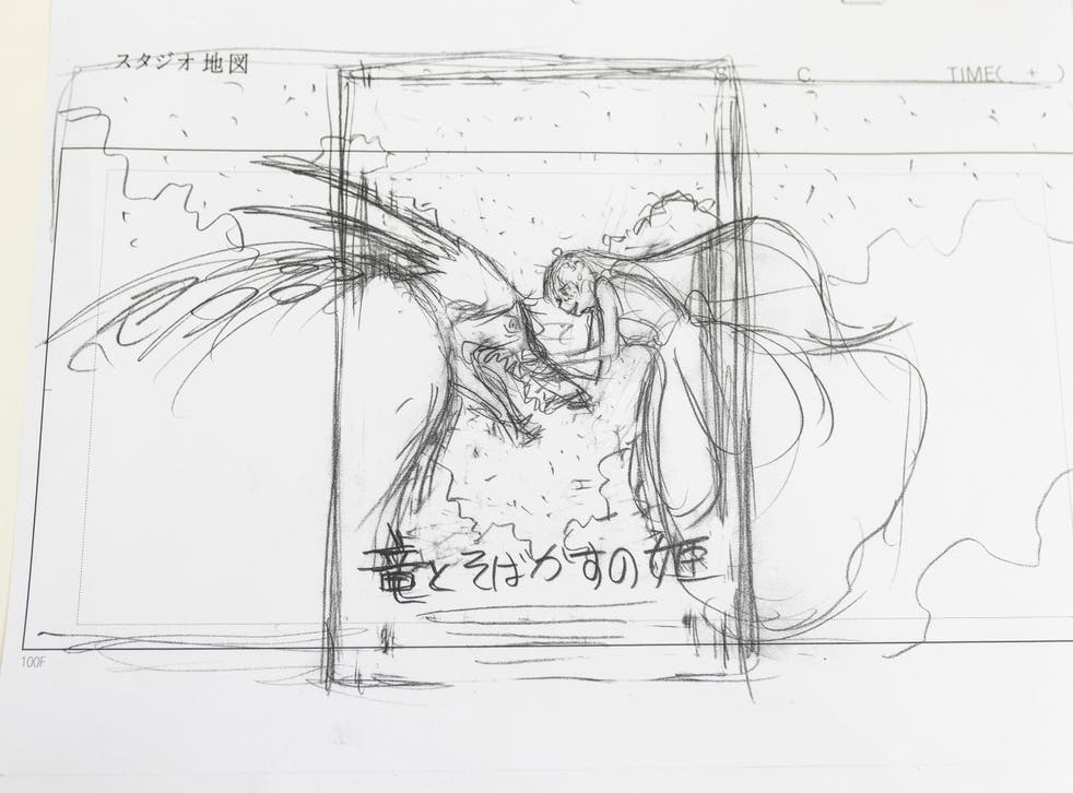 <p>A sketch of the  poster for 'Belle' by Mamoru Hosoda</p>