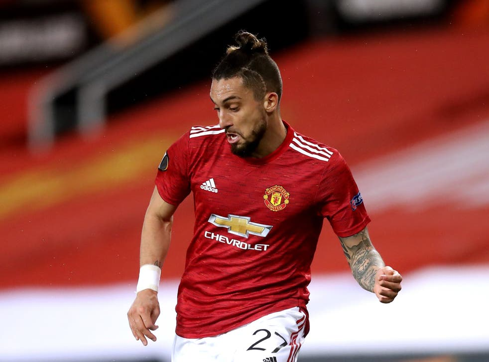 Manchester United's Alex Telles could make his first appearance of the season against West Ham on Wednesday evening (Martin Rickett/PA)