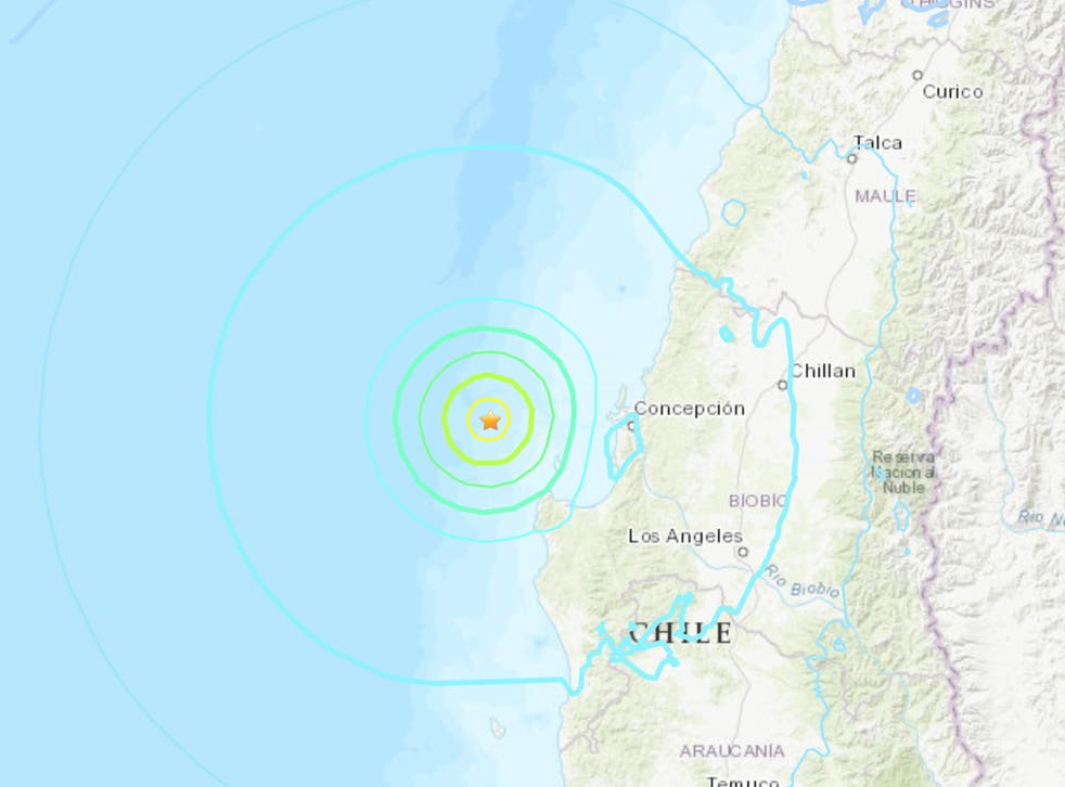 <p>A 6.4 earthquake struck off coast of Chile on Tuesday morning</p>