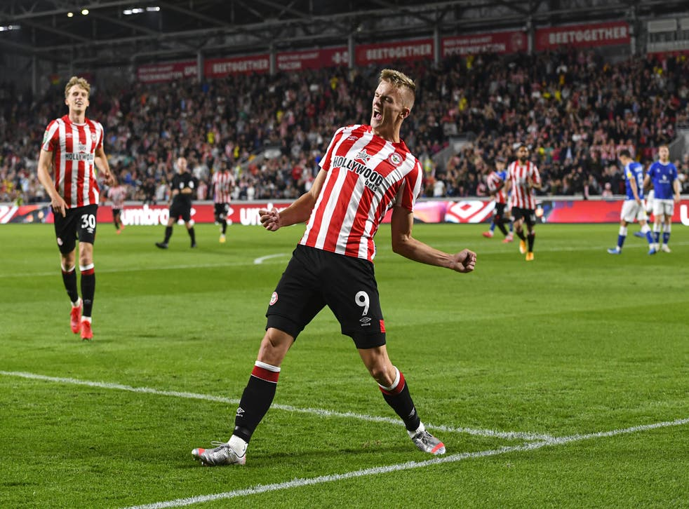 Marcus Forss scored four times for Brentford (Ashley Western/PA)