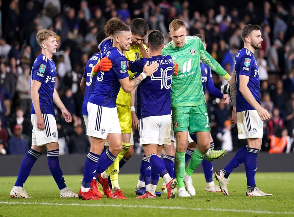Leeds won 6-5 in a penalty shoot-out (Andrew Matthews/PA)