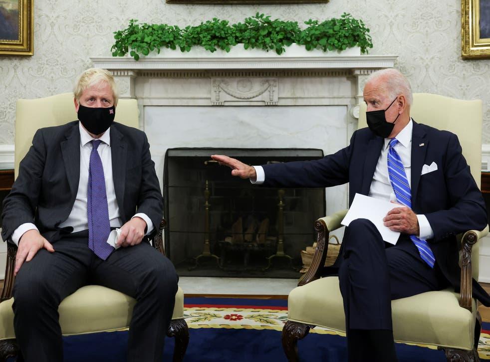 Biden and Johnson