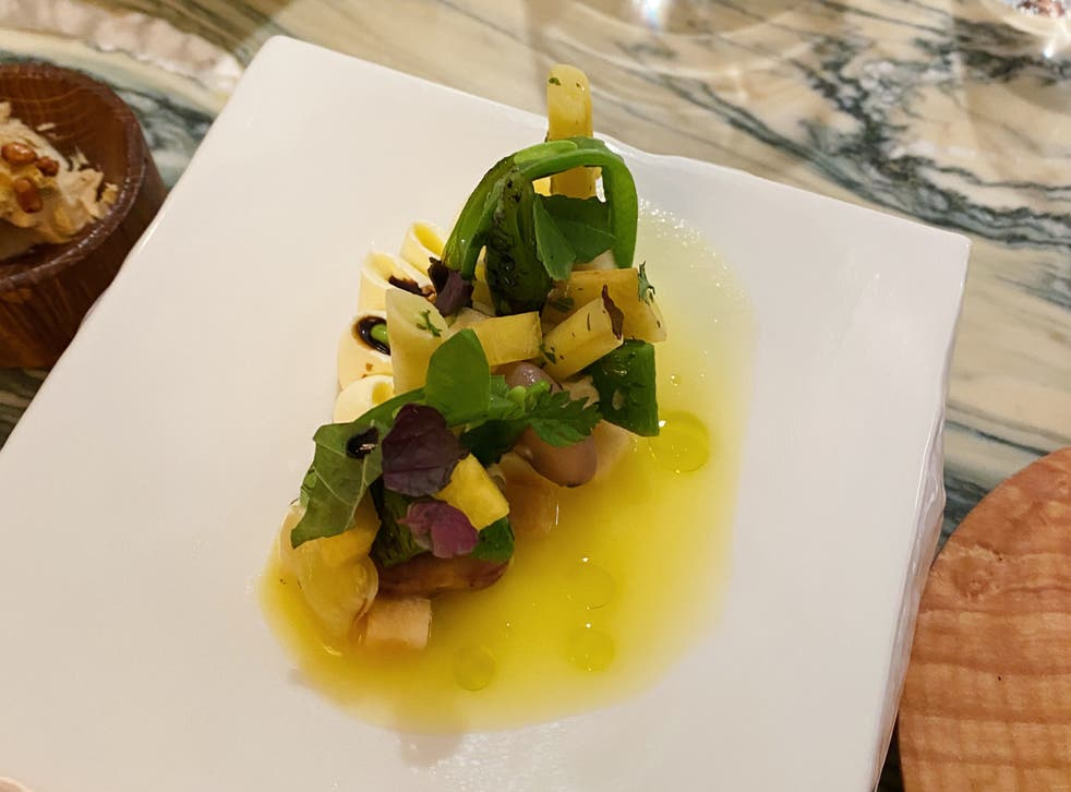 <p>Each dish is given a nostalgic, story-led theme</p>