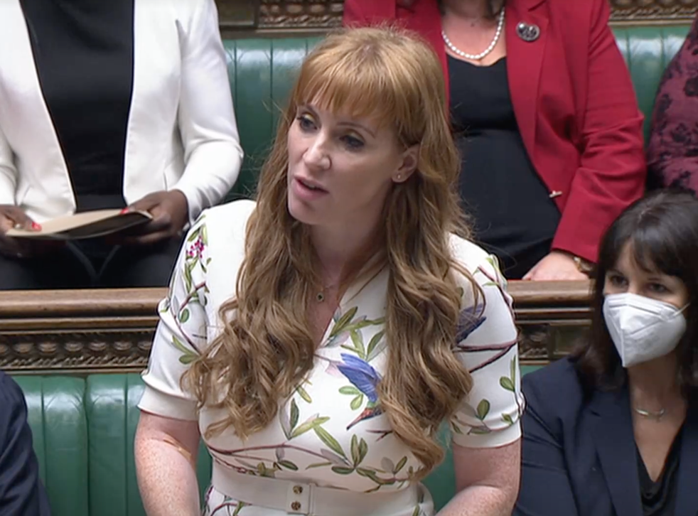 <p>Angela Rayner faces Dominic Raab at PMQs on Wednesday 22 September </p>