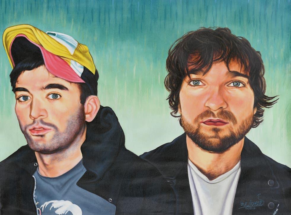 <p>Sufjan Stevens and Angelo Augustine in a portrait by Daniel Anum Jasper</p>
