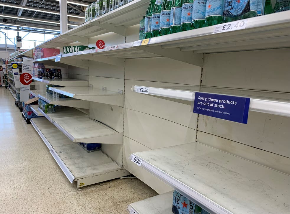 <p>Panic buying could be 'far worse' than during the pandemic, Tesco has warned </p>