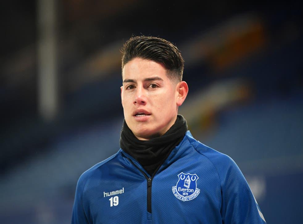 <p>James Rodriguez scored six goals for Everton  </p>
