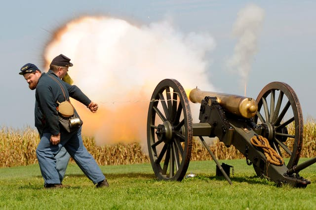 <p>Reenactment of The Battle of Antietam, the bloodiest one-day battle in American history</p>