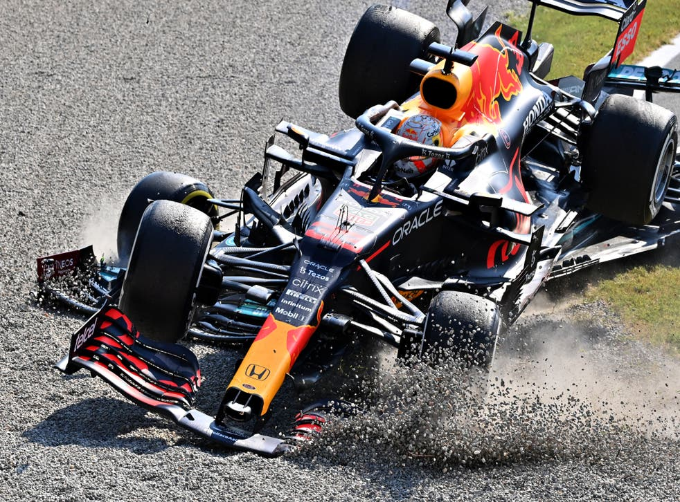 <p>Verstappen and Hamilton have crashed twice this season</p>