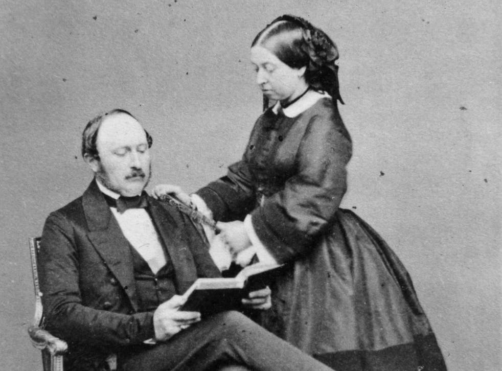 <p>Prince Albert (L) and Queen Victoria (R) at Buckingham Palace</p>