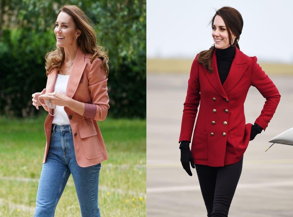 The Duchess of Cambridge in blazers (Composite/PA)