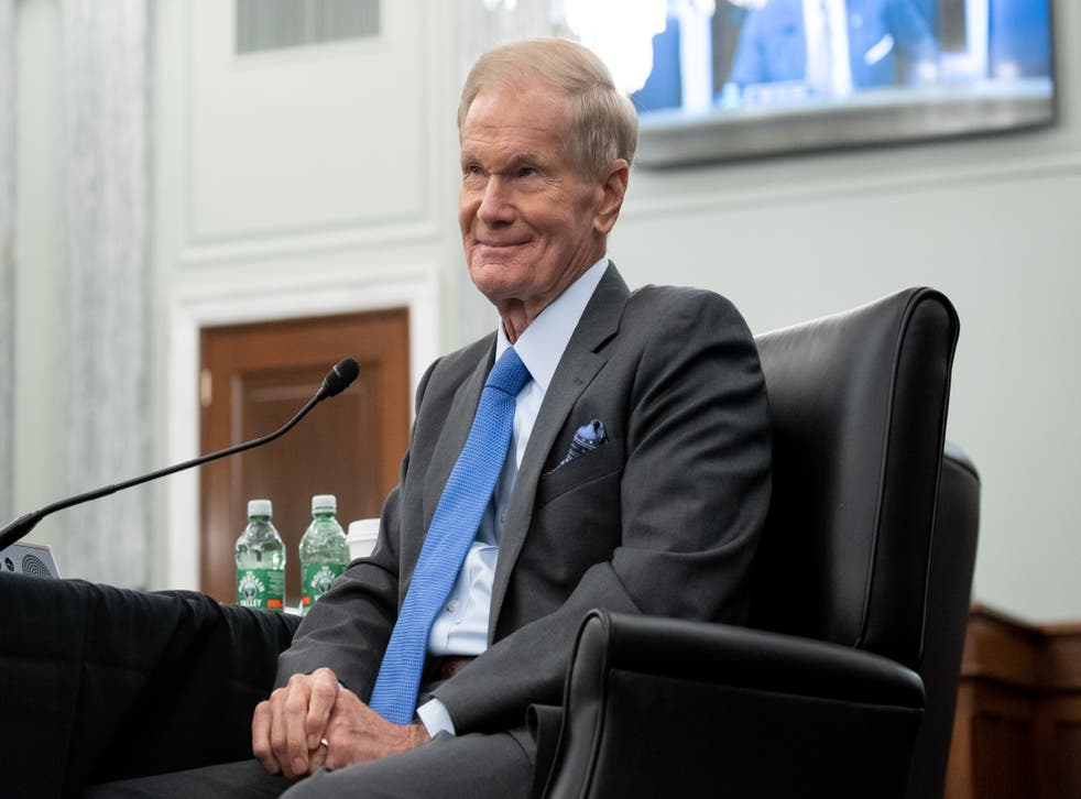 <p>Nasa Administrator Bill Nelson when he attended Senate Committee on Commerce, Science, and Transportation confirmation hearing in April</p>