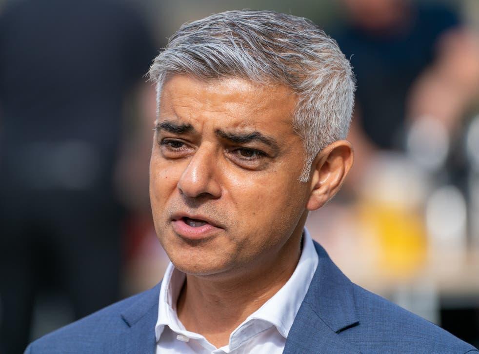 <p>London Mayor Sadiq Khan</p>