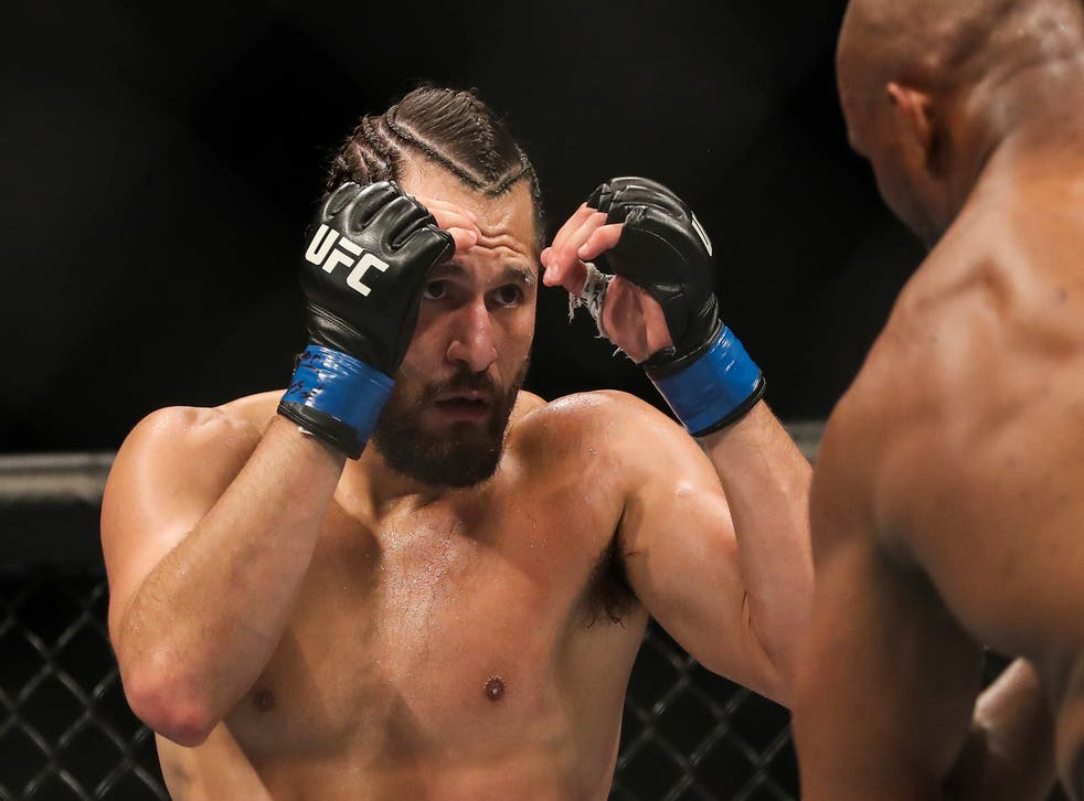 <p>Jorge Masvidal appeared at an AEW event </p>