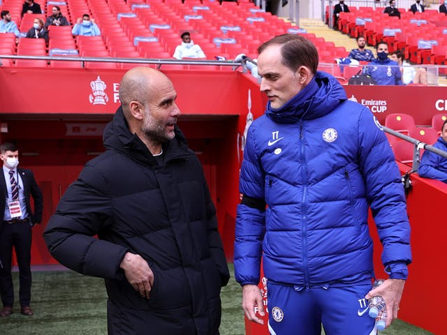 <p>Chelsea and Man City meet again this weekend</p>