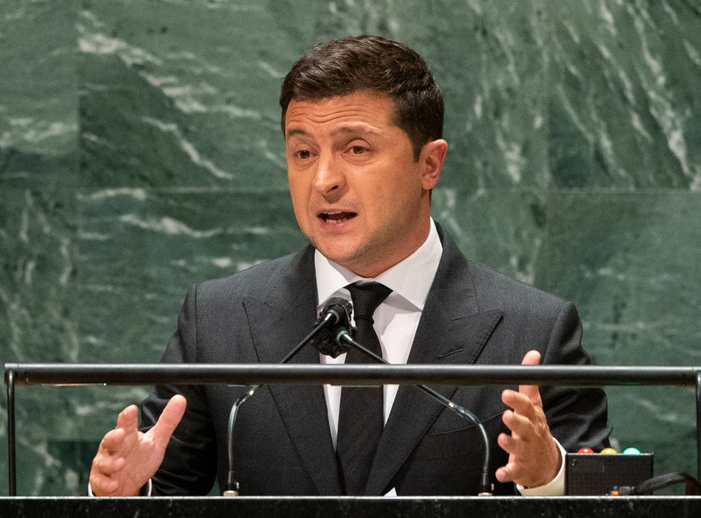 <p>Zelenskiy addresses the 76th Session of the UN General Assembly in New York City this week</p>