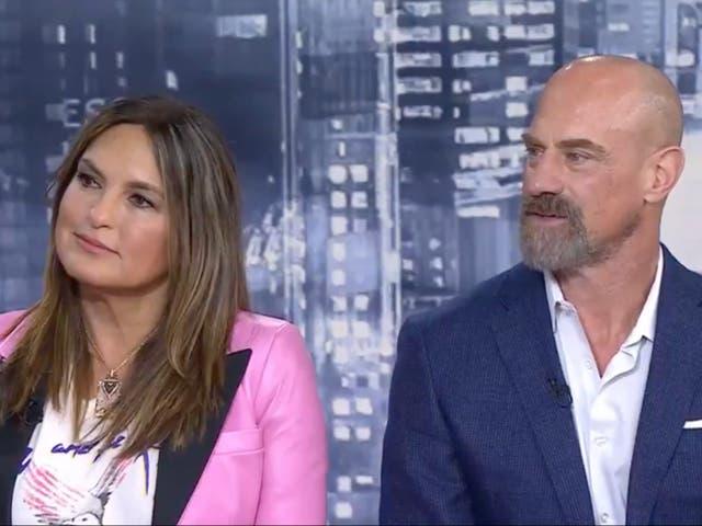 Mariska Hargitay y Christopher Meloni en el programa 'Today'