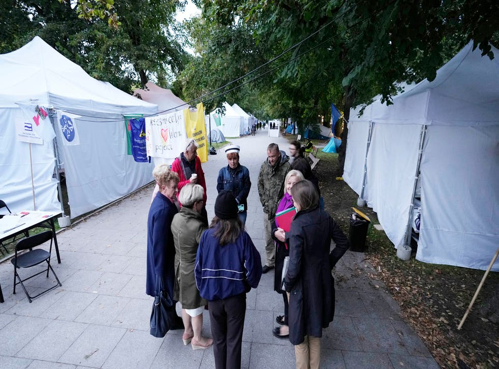 Virus Outbreak Poland Medics Protest
