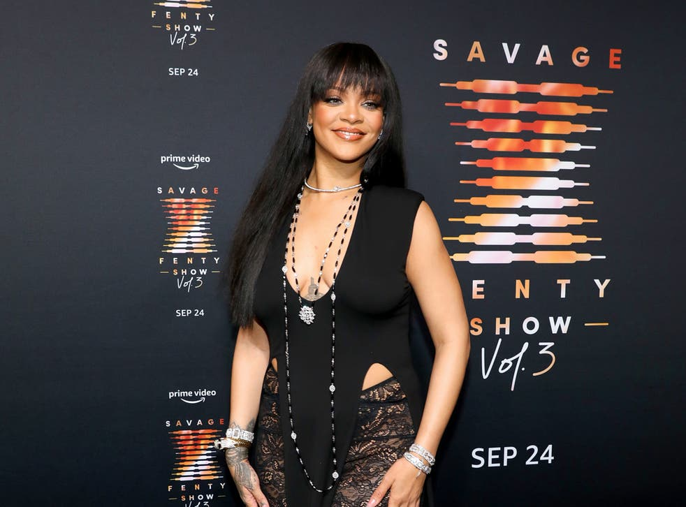 <p>Rihanna attends premiere of her third Savage x Fenty show </p>