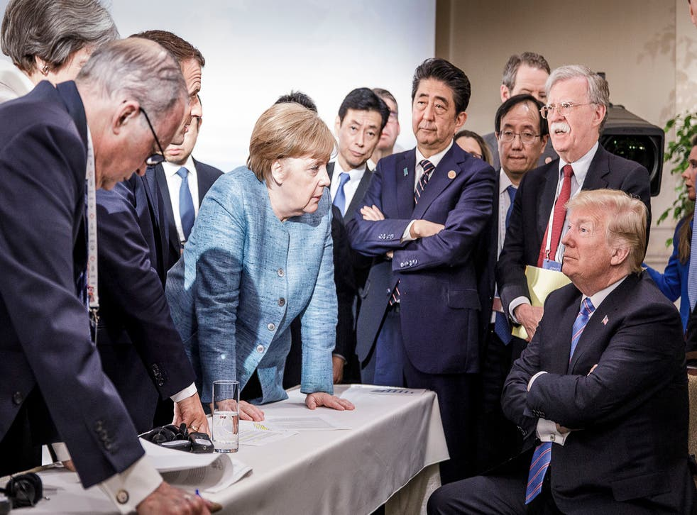 <p>Presence: Obama wanted Angela Merkel to stay on during what he foresaw would be a chaotic period under Trump </p>