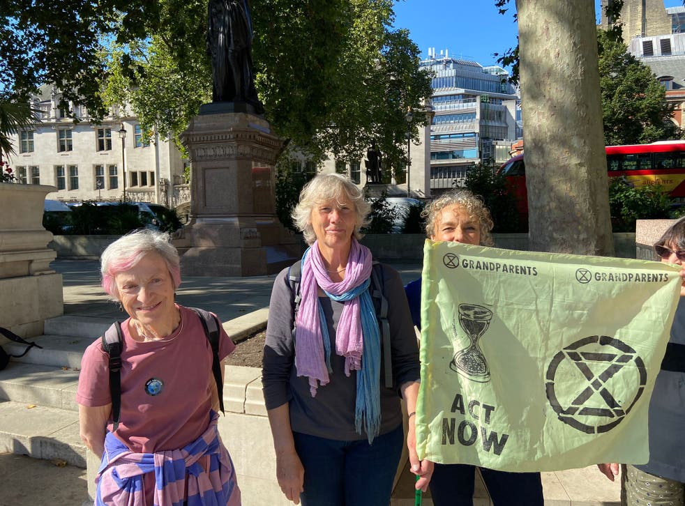 <p>Members of Extinction Rebellion Grandparents and Elders say they stand in solidarity with young people</p>