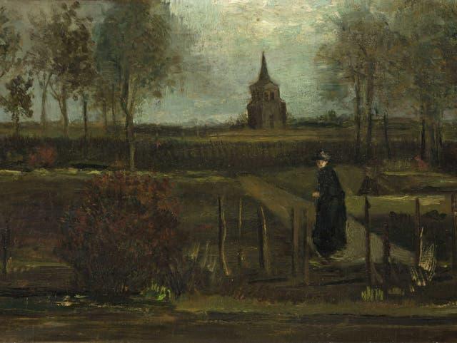 El jardín de la casa parroquial en Neunen en la primavera de 1884 no ha sido recuperado después de que fuera robado del museo Singer Larsen.